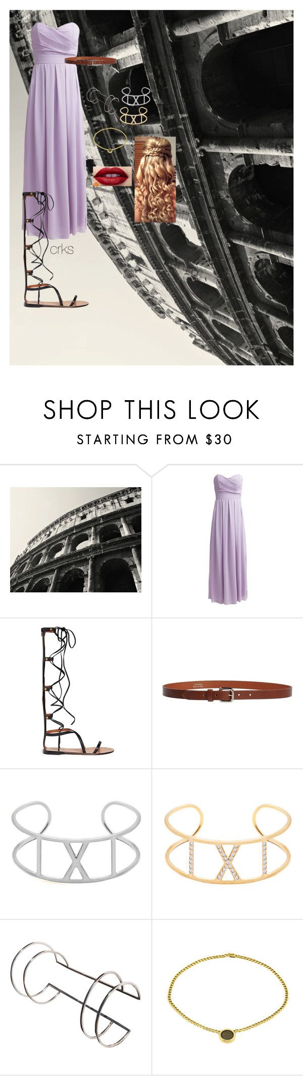 """""""Roman Outfit"""" by crks ❤ liked on Polyvore featuring Colosseum, TFNC, LAGUCIA, Nialaya, Mecurialist, Bulgari, purple, bracelet and roman"""