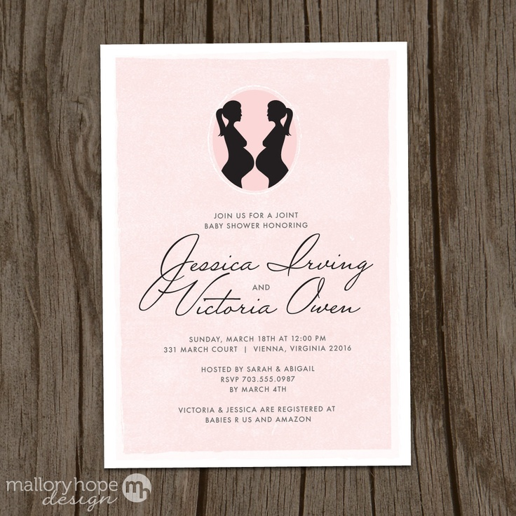 Double Bumps Modern Baby Shower Invitation & Envelope (DIY / PRINTABLE). $22.00, via Etsy.