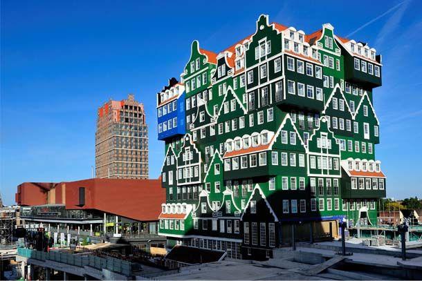 Funky looking building in Amsterdam  www.habitatapartments.com