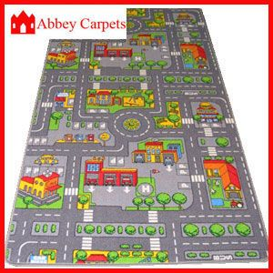 Children S Road Rug Play Mat Toy Car Roadway Large