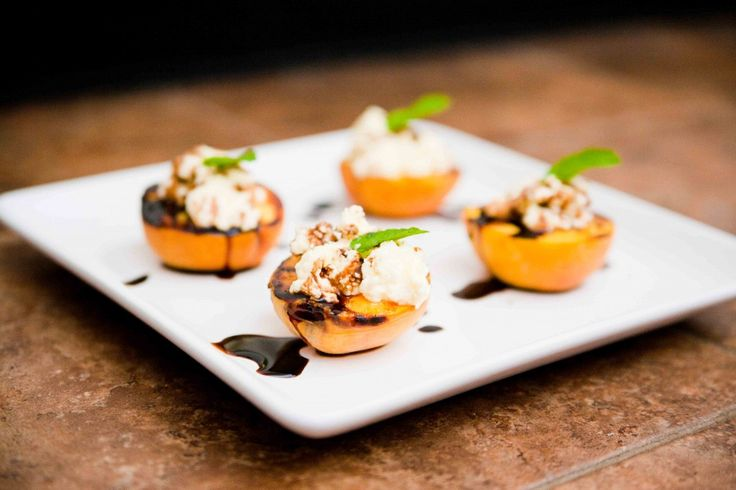 grilled peaches with ricotta | fruit ---> dessert | Pinterest