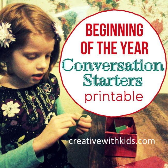 Kid Conversation Starters for the Beginning of the Year - Printable!