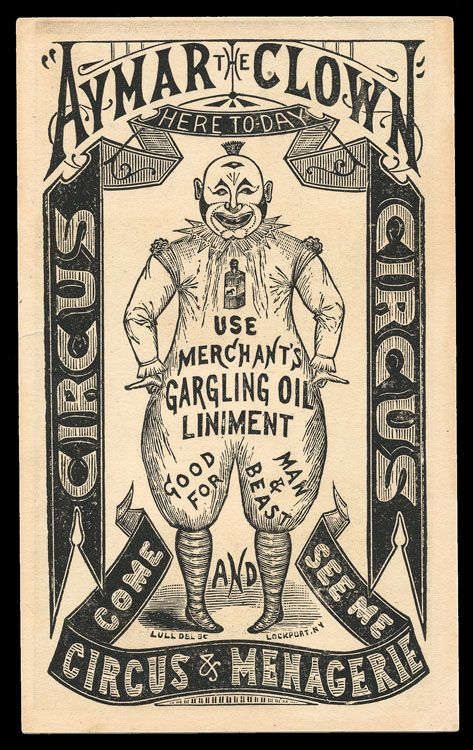 Aymar the Clown - Victorian ad within an ad