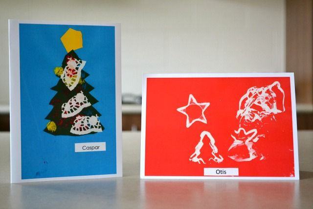 For kids- Use Christmas cookie cutters dipped in paint to make homemade cards or art.