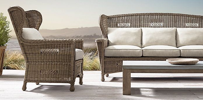 399 best outdoor wicker furniture ideas images on for Who manufactures restoration hardware furniture