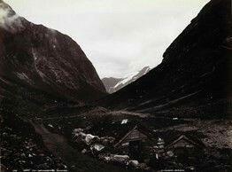 FAKf-100244.160261 «Parti fra Norangsdalen» (JSR-Kode: A8-A-Natur) Landskap, fjell, Ørsta, Norangsdalen | 1880 - 1900