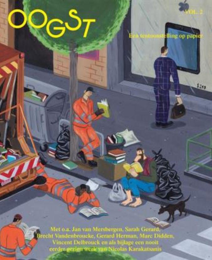 """""""Oogst is een nieuw onafhankelijk tijdschrift over beeldende kunst, literatuur en film. In tijden van clicks en snelheid kiezen we bewust voor papier en traagheid. De inhoud is niet actueel en daardoor tijdloos."""""""