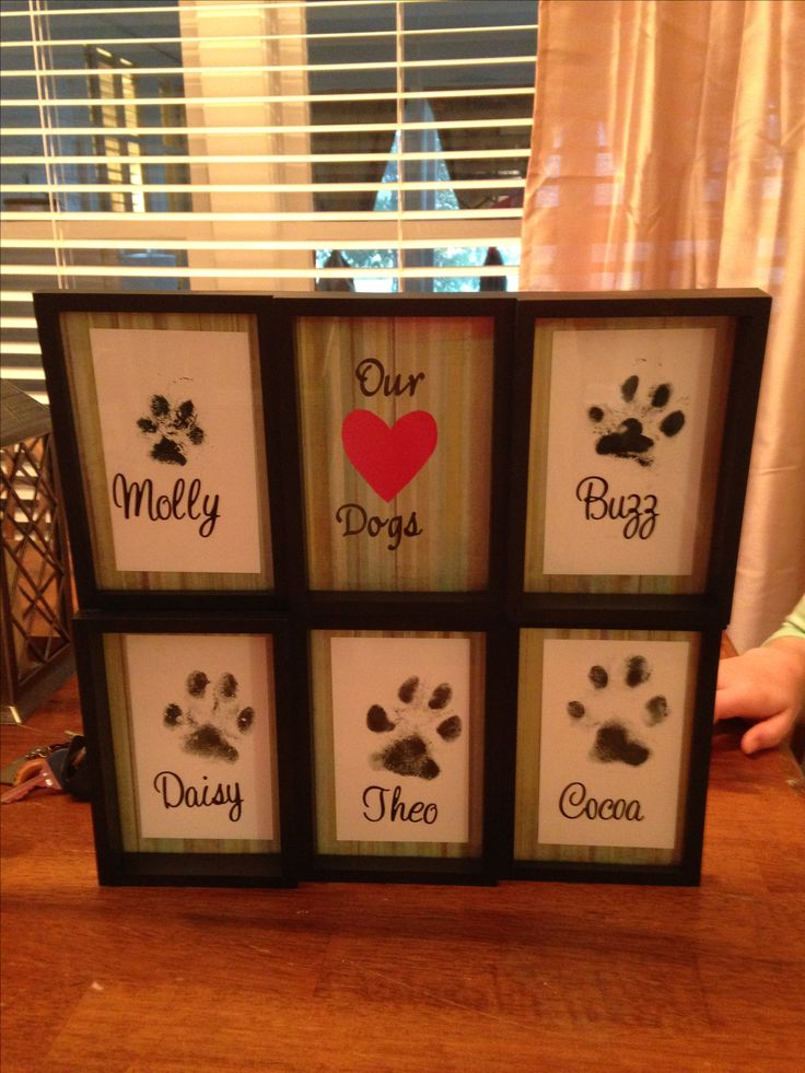 Dogs paw prints. Wish I would have done this.
