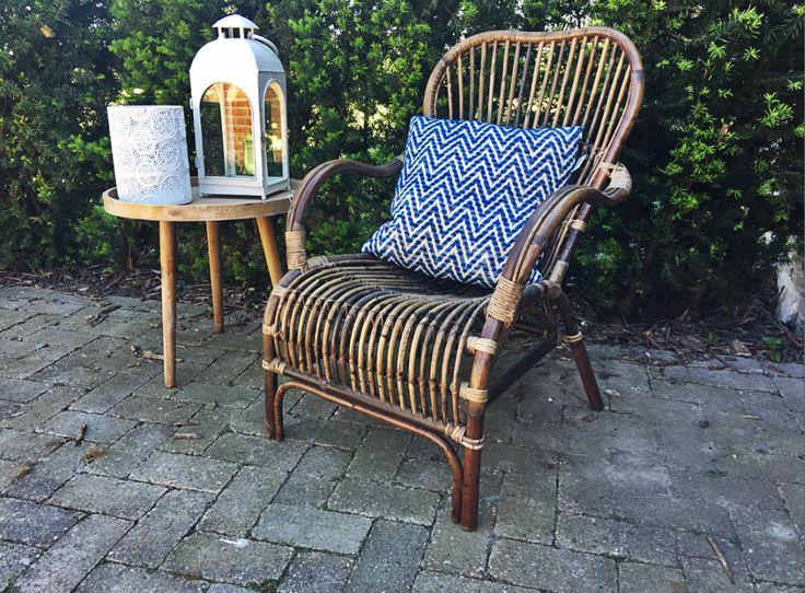 Bruine rotan loungestoel - 67x80xH86 cm