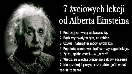 7 życiowych lekcji od Alberta Einsteina