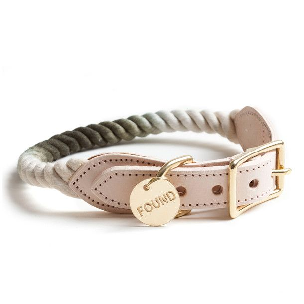 Rope Brass Collar Olive Ombre