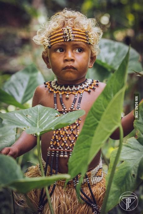 I give you Solomon Islands Melanesians. The only black people with natural blond hair!