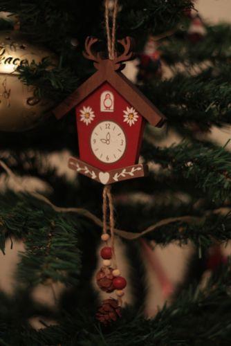 GISELA GRAHAM SCANDINAVIAN CUCKOO CLOCK CHRISTMAS TREE DECORATION | eBay