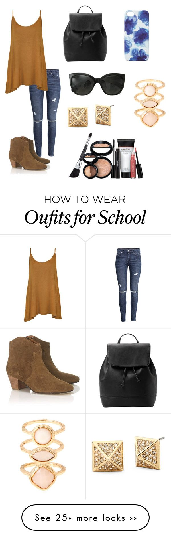 School outfit by hellofashion22 on Polyvore featuring HM, WearAll, Isabel Marant, MANGO, Chanel, Jigsaw, Monsoon and Laura Geller