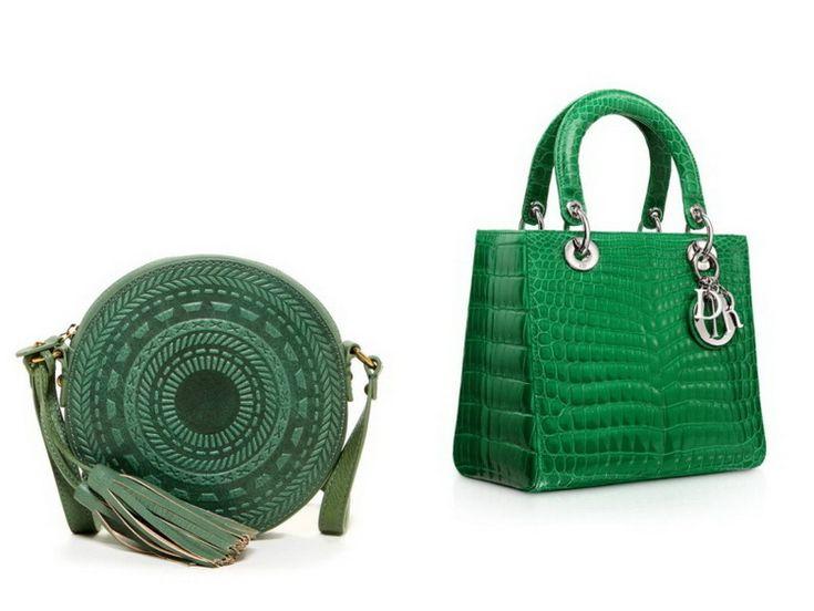 Зеленые сумки - фото