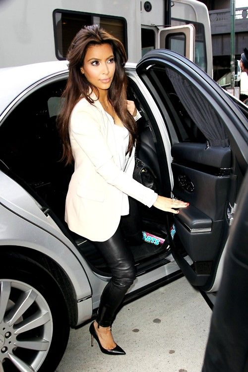 Kim Kardashian's long hair