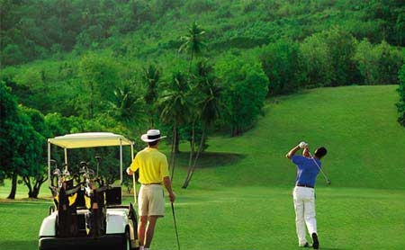 Sandals St. Lucia golf course. Beautiful! Thank you Kim our golf pro!