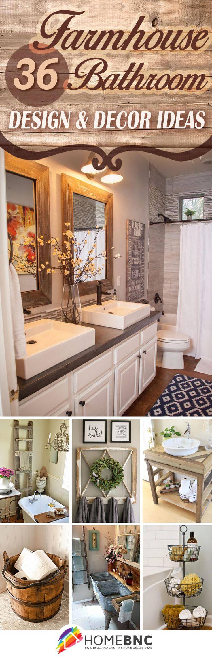 36 Beautiful Farmhouse Bathroom Design And Decor Ideas You Will Go Crazy For