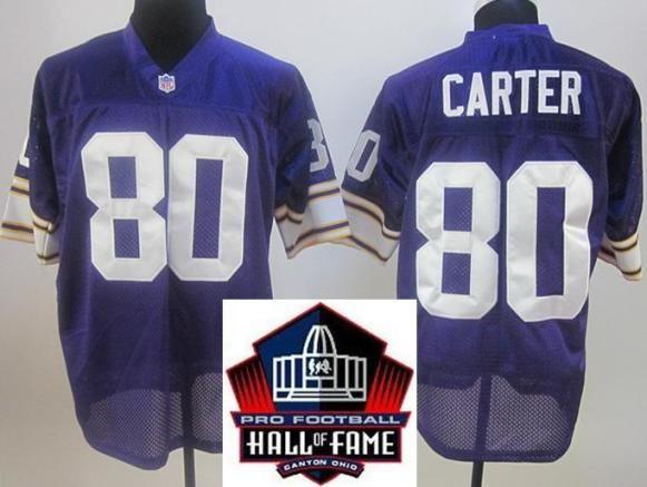 Purple Throwback 80 Minnesota Of Carter Vikings Hall Fame Cris Jersey