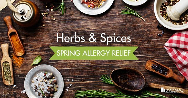Herbs, Spices, and Foods for Spring Allergy Relief - D'Adamo Personalized Living
