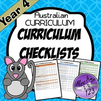FREE Year 4 Australian Curriculum Checklists