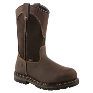 Irish Setter Ramsey Waterproof Pull-On Safety Toe Work Boots for Men - Brown - 10.5 M