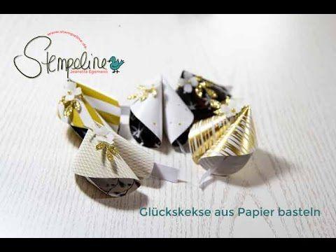 Glückskekse aus Papier basteln (HD)