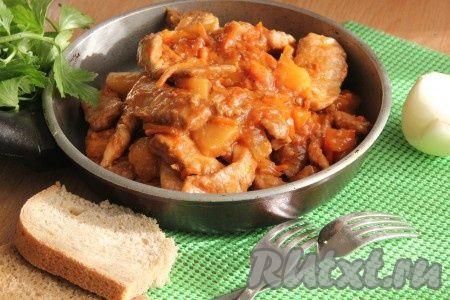 Мясо в кисло-сладком соусе (Гобажоу)