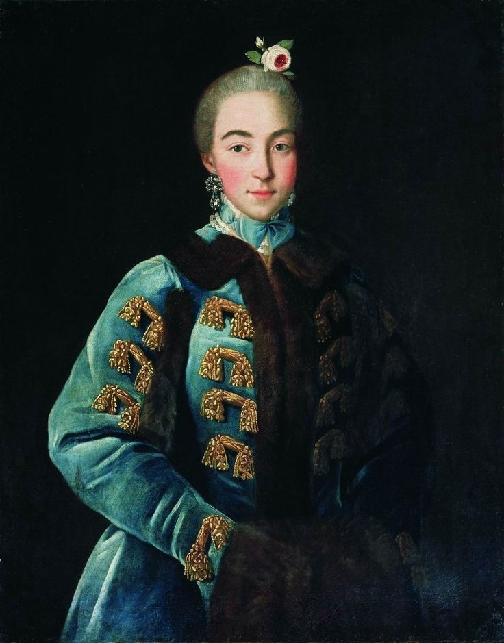 Portrait of Anna Petrovna Sheremeteva (1744-1768) by Ivan Argunov