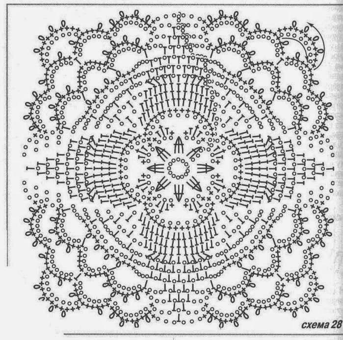 Crochet lace square motif ~~ Ivelise Feito à Mão: Squares Ou Quadrados De Crochê