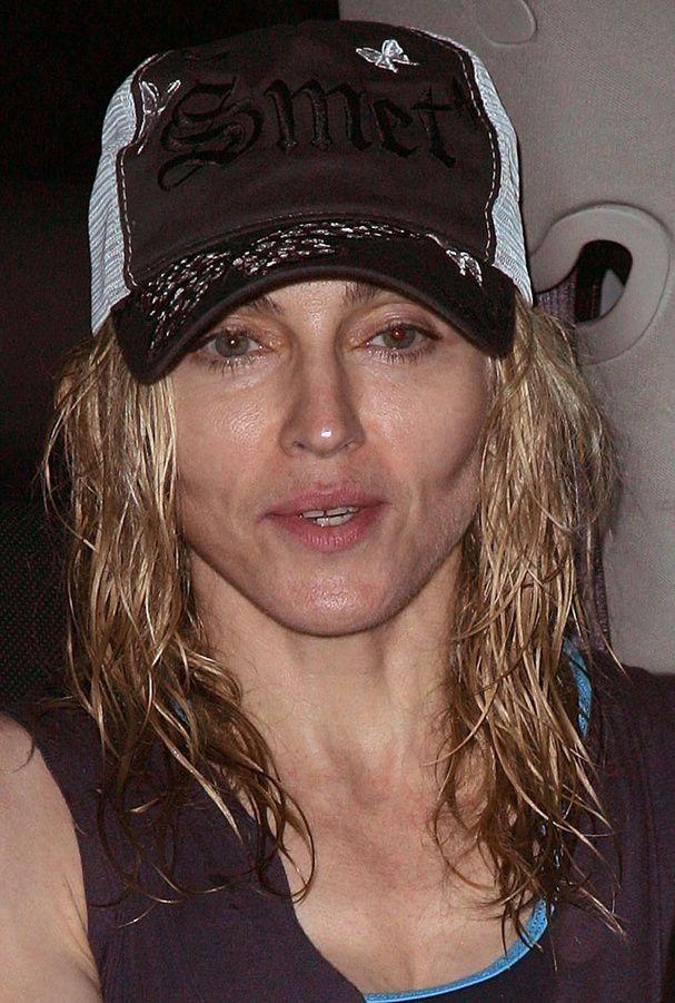 La star Madonna sans maquillage