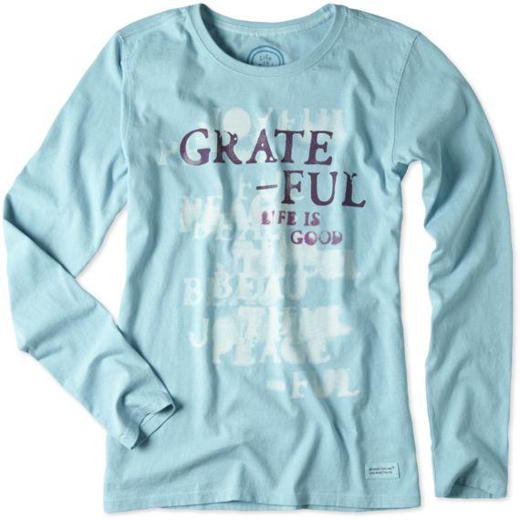 Women's Grateful Long Sleeve Crusher Tee | Life is good