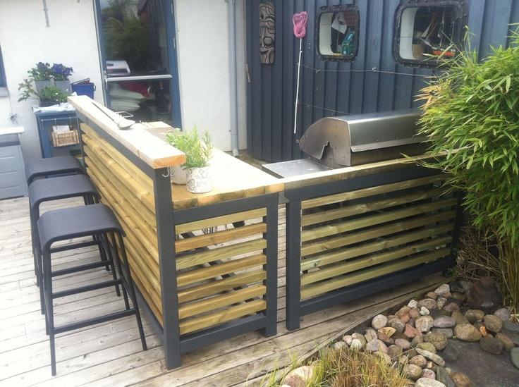 Cattis und Eiras Garden Design: Jetzt bereitet sich unsere Outdoor-Küche vor