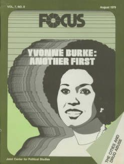 Cover of Focus, featuring Yvonne Burke, 1979 :: Library Exhibits Collection
