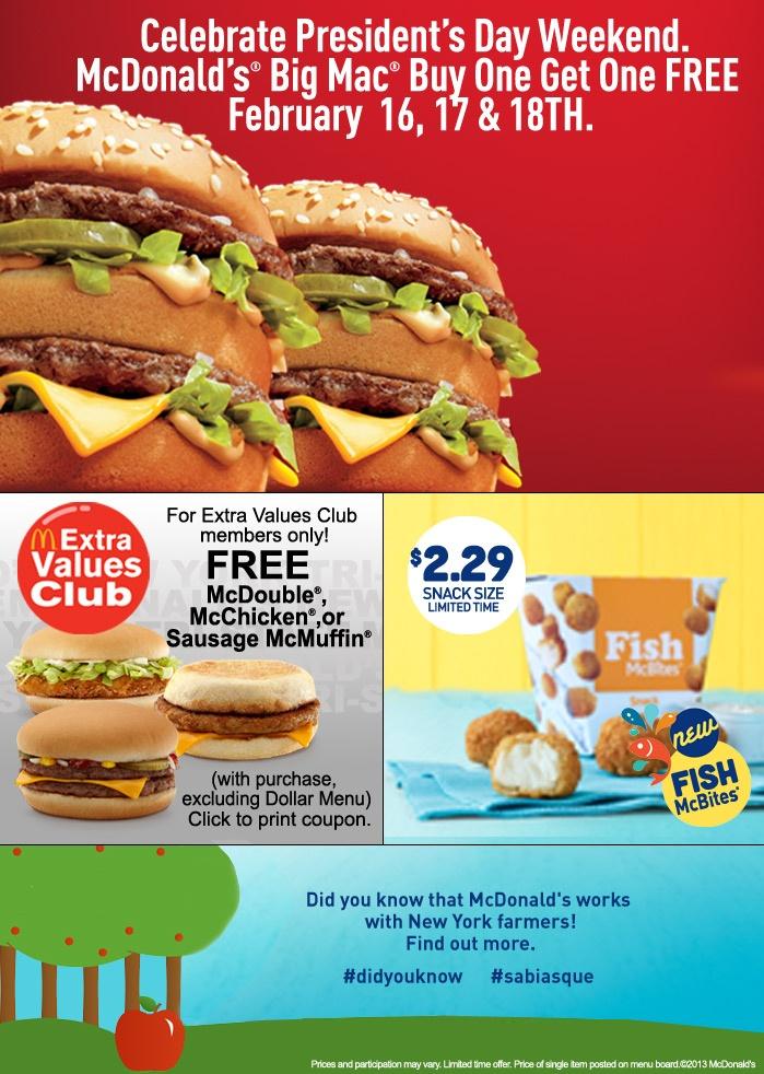 Buy Dealz :: McDonalds   BOGO Free Big Macs (2/16 - 2/18)