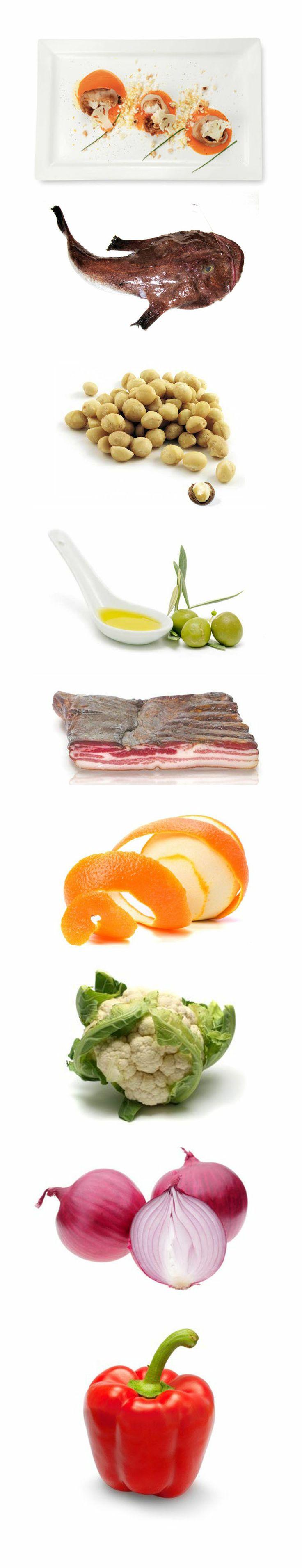 Medaglioni di rana pescatrice con noci di macadamia e pancetta su passata di peperoni e cavolfiori.  Preparazione: per la passata pulire la cipolla e i peperoni rossi e tagliarli a pezzi grossolani, metterli in una casseruola con un po' di olio di oliva e il brodo di pesce. Fare cuocere tutto molto bene e frullare con il mini pimer; se occorre passare al colino cinese...http://www.fruttaebacche.it/medaglioni-pescatrice-noci-di-macadamia/ #ranapescatrice #macadamianuts #recipe #ricette…