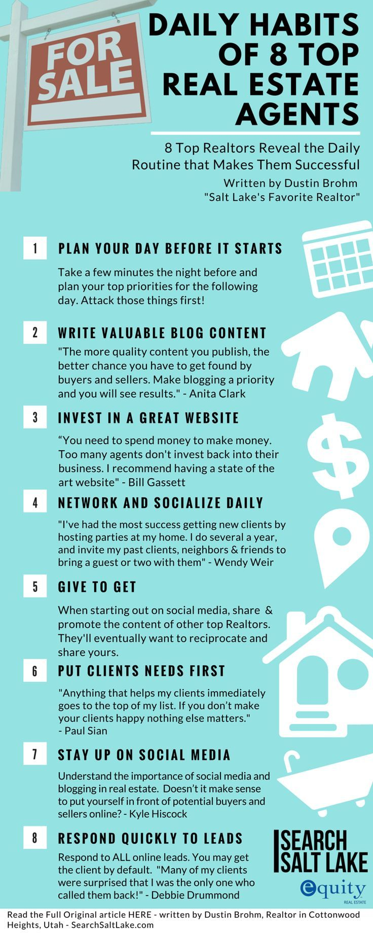 Top Real Estate Agents Reveal the Daily Routines that Makes Them So Successful. Why are some agents successful, and other real estate agents unsuccessful?