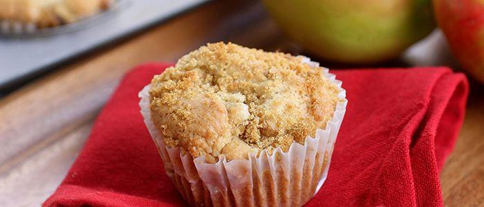 Craquez pour notre recette de muffins aux pommes.