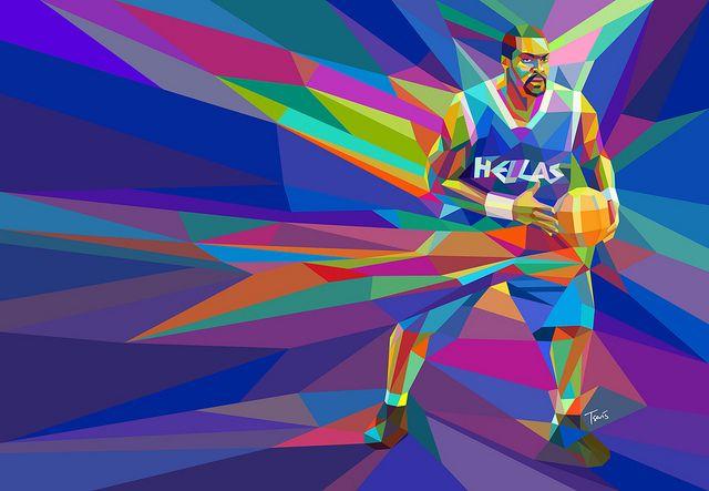 Greek basketball players...Chris Tsevis