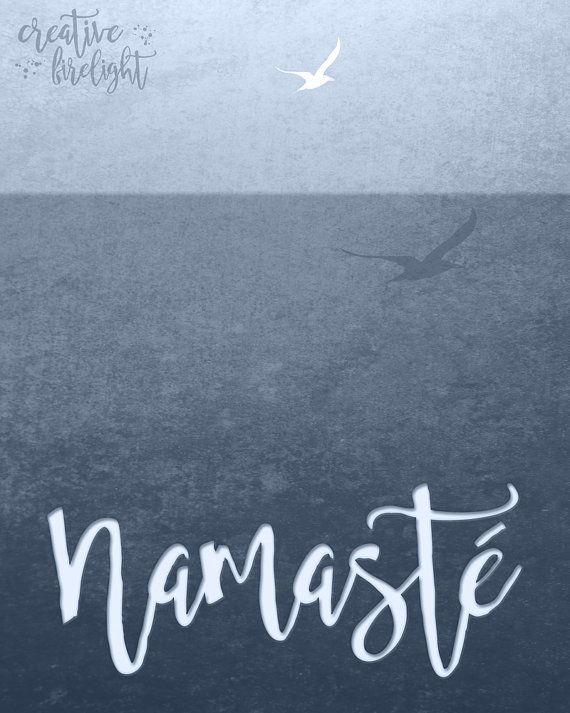 Namaste Instant Download Printable on etsy by Creative Firelight / Jessica Holbrook https://www.etsy.com/listing/461821446/namaste-bluish-gray-printable-instant