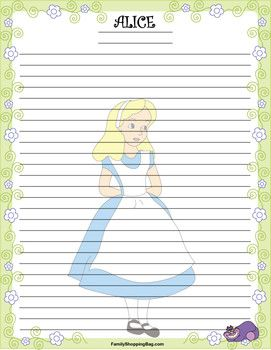 Stationery 2 Alice, Alice In Wonderland, Stationery - Free Printable Ideas from Family Shoppingbag.com
