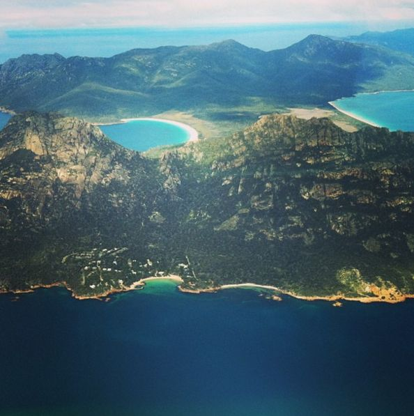 Fly over Wineglass Bay. | 27 Things You Didn't Know You Could Do In Tasmania