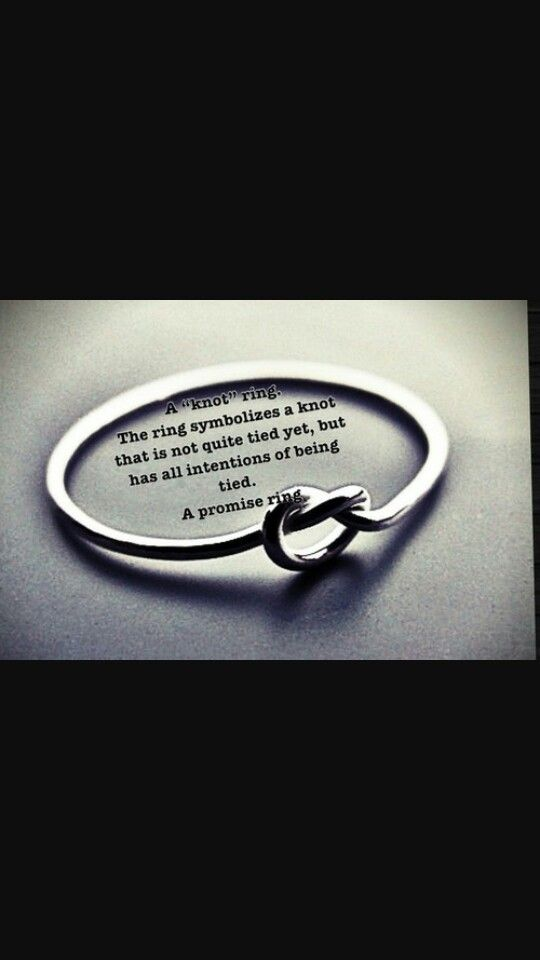 Beautiful meaning behind promise ring. :)
