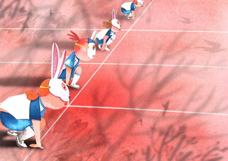 red,illustration,bunny mask,relay,race,runners, 운동회일러스트,운동일러스트,동화일러스트,동화그림,그림책,창작동화,어린이책