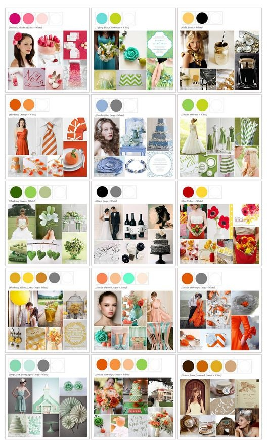 Explore 500 + Color Combos for weddings and events! http://www.theperfectpalette.com/p/color-palettes_17.html
