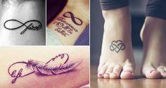 Diseños de tatuajes de Infinito de Tumblr y Pinterest