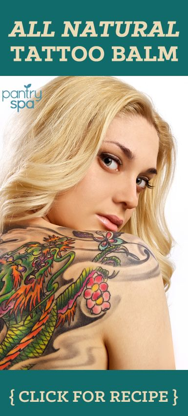After going through the ordeal and paying for a tattoo you want to keep it clean and moisturized while it heals. Try making this tattoo aftercare lotion.