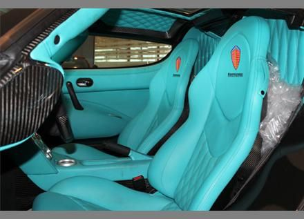 2010 #Koenigsegg CCX Tiffany blue interior  Prb would be really cute with my car color.