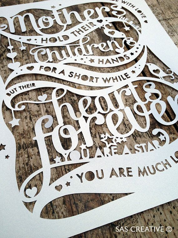 Papercut Template PDF 'Mothers hold their childrens by SASCreative