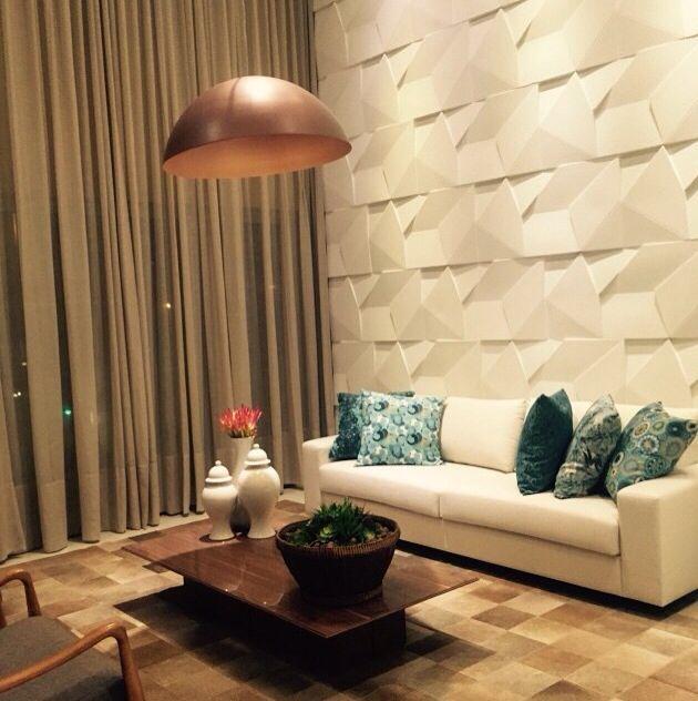 17 melhores imagens de revestimento 3d no pinterest for Revestimento 3d sala de estar